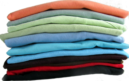 Color Choices Folded Tee Shirts JW Shirtworks