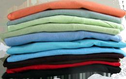 Color Choices Folded Tee Shirts JW Shirtworks