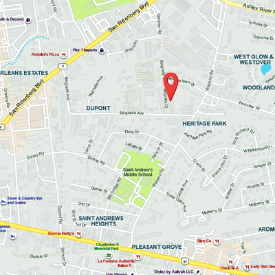 Location Map for JW SHirtworks