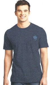 Mens Heather Navy Tee Front