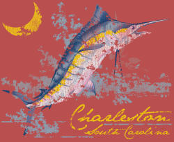 Mens Charleston Sailfish Tee-Shirt